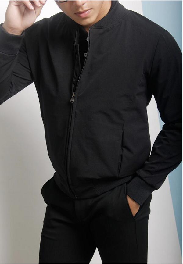 áo khoác nam màu đen 3